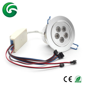 Latest Wireless DMX 5*8W 24VDC RGBW led downlight, led celling light