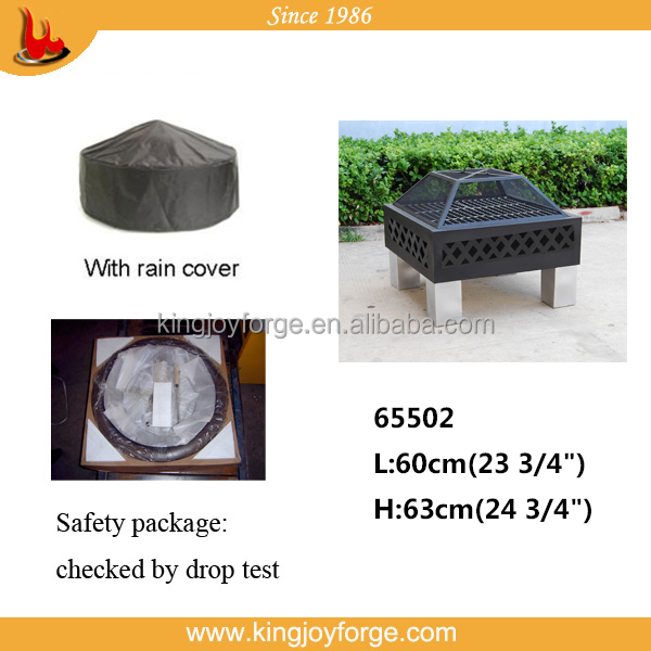 Kingjoy-hot sale square fire basket / outdoor fire pit 65502/garden fireplace