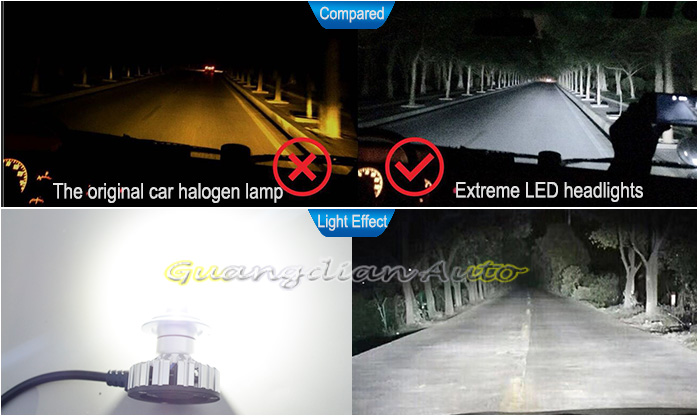 Multi-surface heat dissipation H7 Extreme LED car headlamp 12v 30W 3200lm auto headlight 1 year warranty