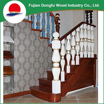 Eco Friendly Stair Grill Design In Wooden
