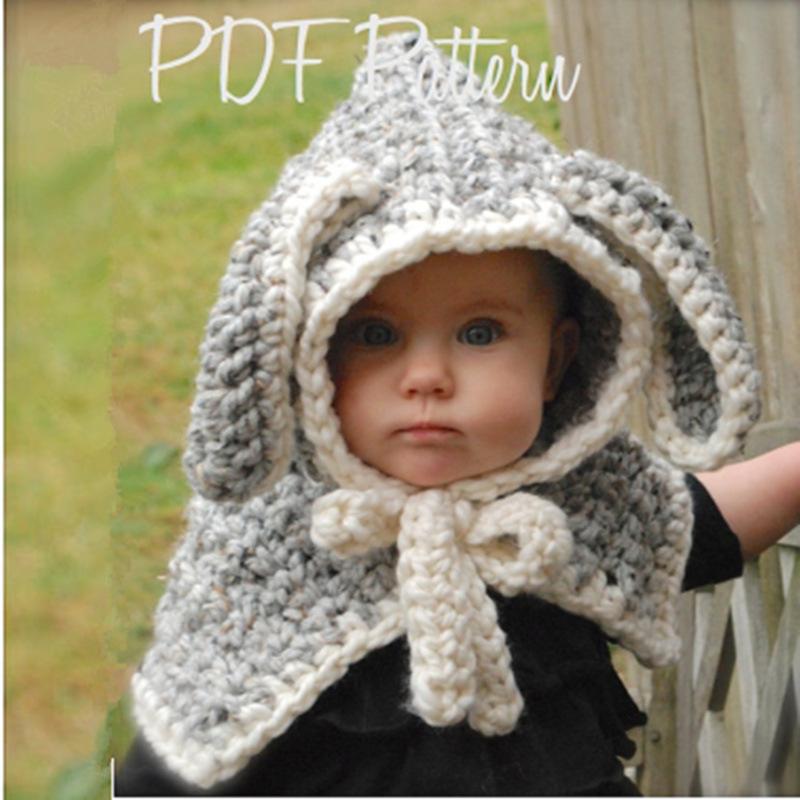 Bonito Conejo Patrón De Crochet Sombrero Inspiración - Manta de ...