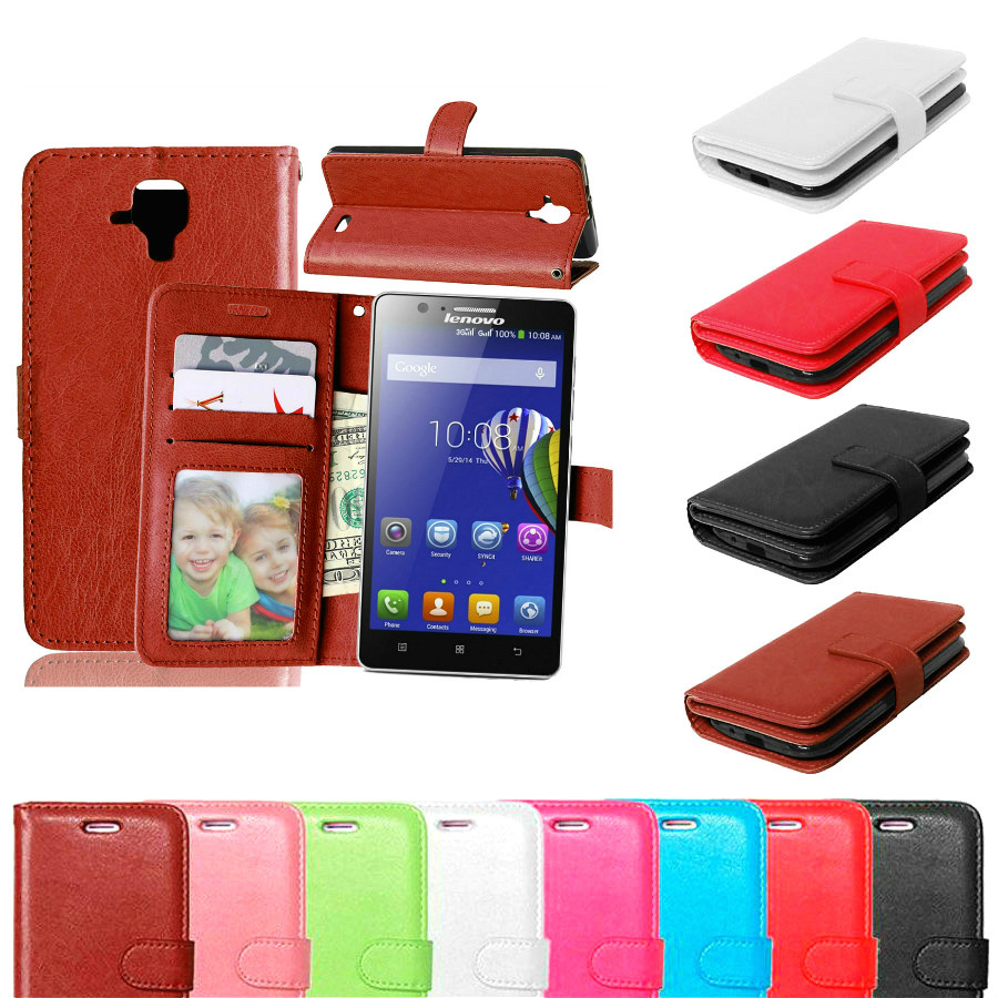 Phone Bag For Lenovo A 536 Skin Wallet Book Style Stand PU Leather Cover Flip Case