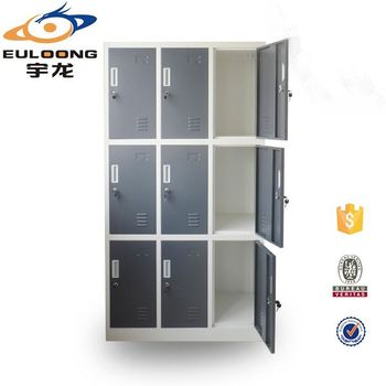 Durable Second Hand Clothes Storage Design 9 Door Steel Locker Made In China