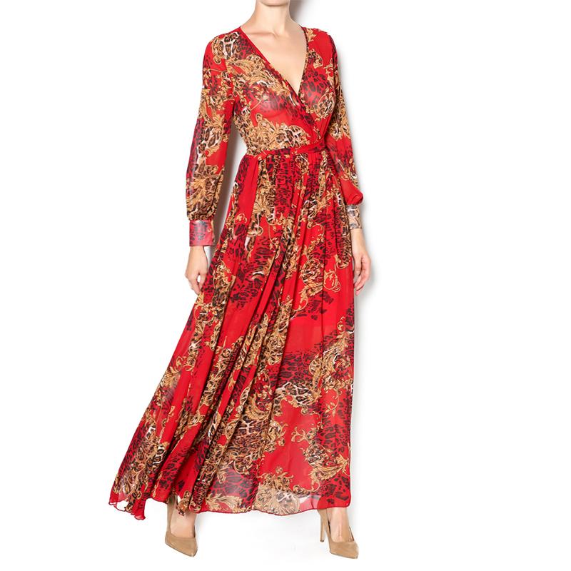 Musim panas wanita elegan maxi panjang plus ukuran kasual wanita gaun