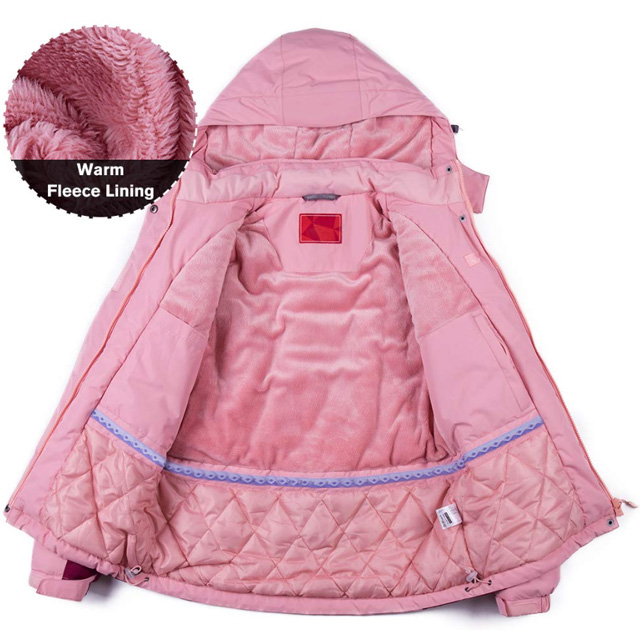 Wholesale Ski Garment Jackets Winter Coat Women Waterproof Outdoor Wear With Hooded