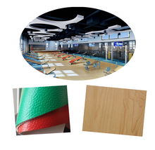pvc flooring china factory specialzed production 3.5mm 4.5mm 6mm 8mm gym/ fitness room flooring