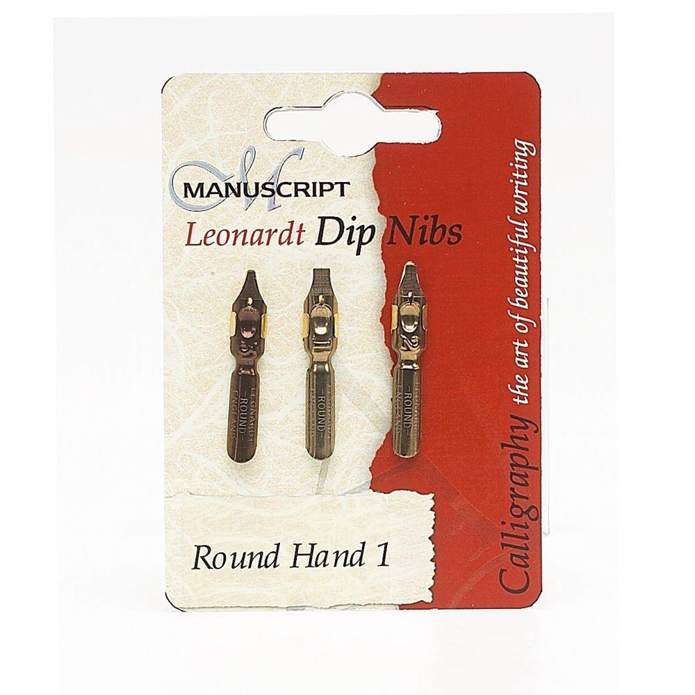 Manuscript Leonardt 3pc Ink Dip Pen Nib Set - Calligraphy 1