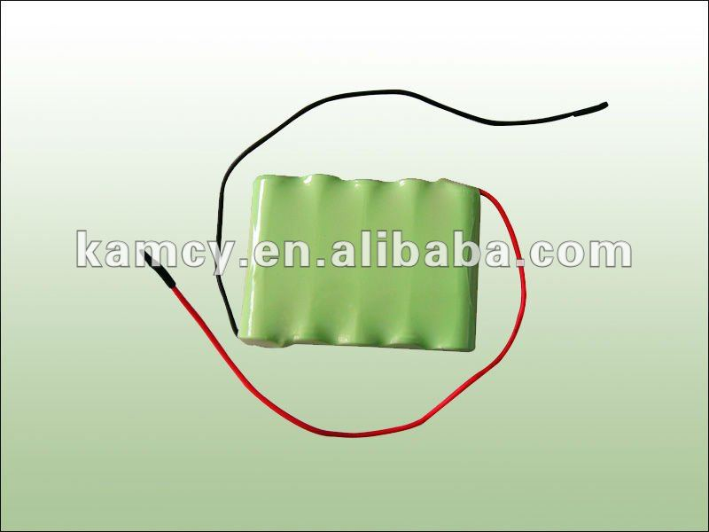 6v nimh rechargeable battery pack aa 1000mah