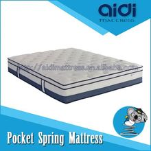 New Product Pure Latex Pocket Spring Euro Top Mattress With High Density Foam AI-1315