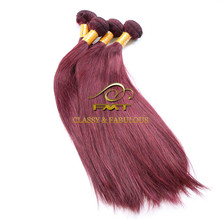 Wholesale Hair Weave Distributors Burgundy Brazilian Hair Weave Bundles 99J