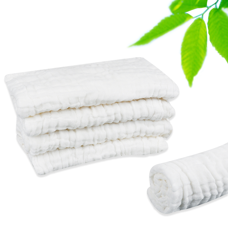4 Layer Cotton Washable Resuable Super Absorption Baby Gauze Muslin Baby Nappy Diaper 3 Sizes for