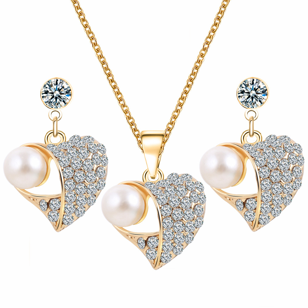 Fashion Simple Design Decoration Pearl Noble Jewellery Set