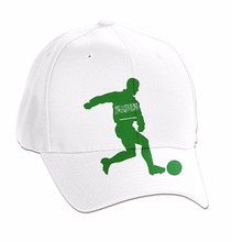 Saudi Arabia 6 panel drawing cotton twill football player simple design hat