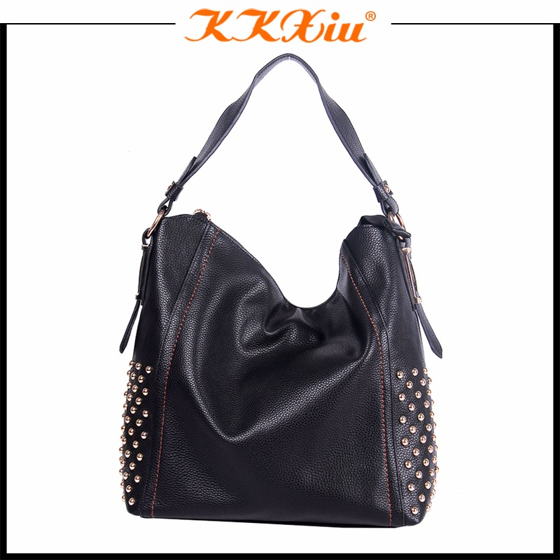 guangzhou branded bag manufacturer,mexico casual leather woman bags with rivets used by aged woman