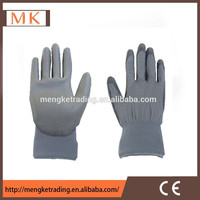 13 gauge gray polyester shell PU coated garden glove