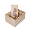 6 Bottles Wooden Wine Box With Removable Lids YIXING4124