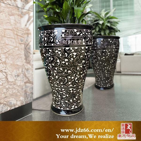 Fine Jingdezhen Porcelain Tall Decorative Indoor Flower Pots Pot Stands Designs Plant