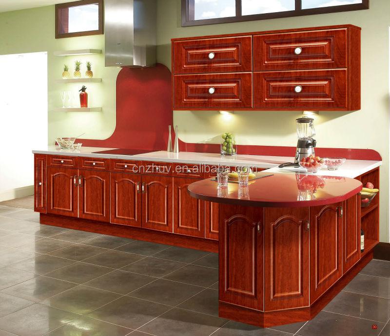 Venta al por mayor muebles de cocina con puertas de cristal-Compre ...