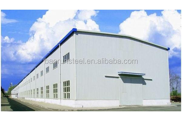 big scale large span metal frame construction prefabricated steel structure building workshop
