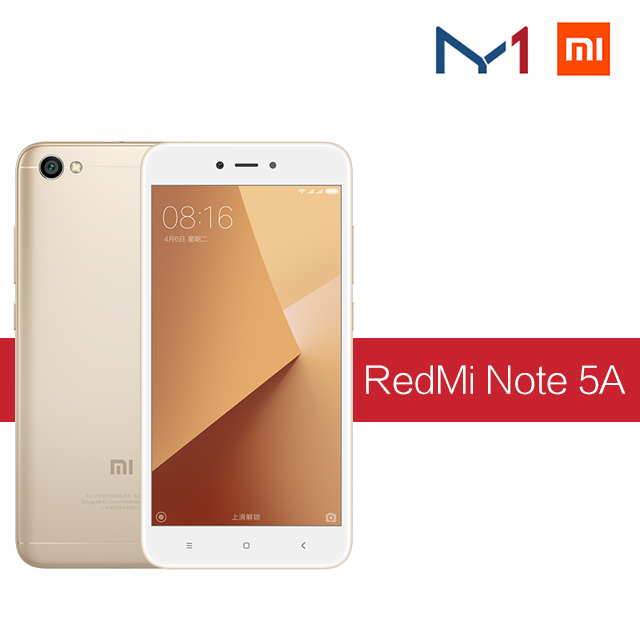 Xiaomi / millet red rice NOTE 5A camera phone 5 A 2GB 16GB Mobile Phone Snapdragon 425 Quad Core CPU 5.5 Inch 13.0MP 3080mAh