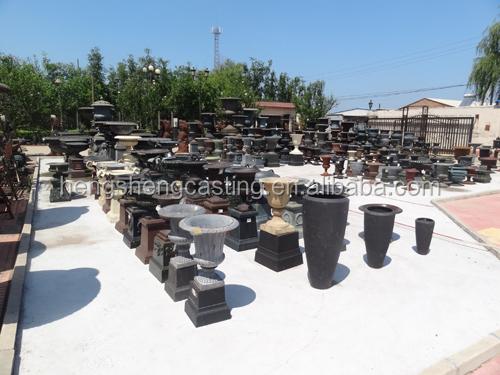 china supplier metal flower pot large cast iron garden urns for sale