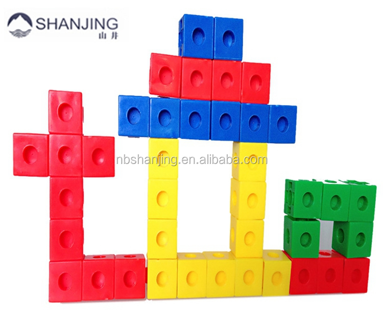 Whole Sale Smart Games Plastic Creative Building Blocks Linking Cube Toys for Kids Educational