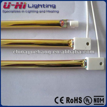 infrared heat lamp with gold coated reflector heating lamp