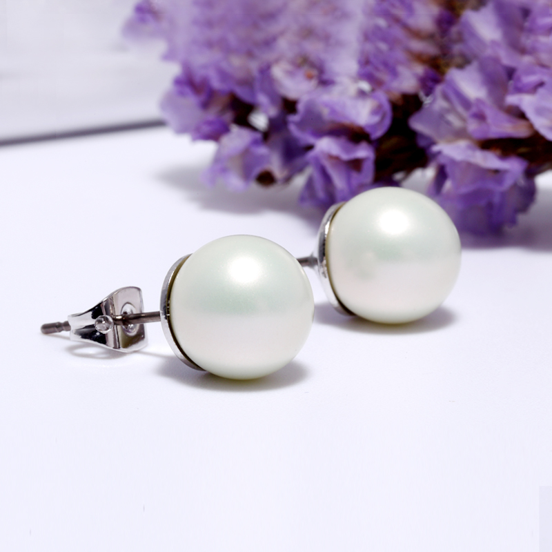 Girl Precious Gift Romantic Special Pearl Silver 925 Plating Silver Jewelry Pearl Charming Earrings Cute