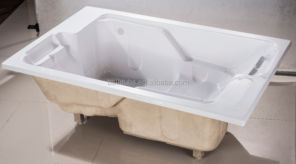 Indoor hot tub 2 person  Cupc Certified Recessed Bathtub With Seat,2 Person Indoor Hot Tub ...