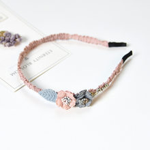 Женский обруч для волос в виде короны, стразы в виде цветка, вечерние украшения ручной работы, корейский стиль(Китай)