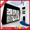 Black and white style wall mount/slatwall shoe display shelf,shoe store interior design