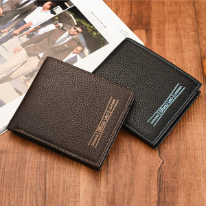Cheap Human Fine Classic Man PU Leather Wallet Polyester Wallets