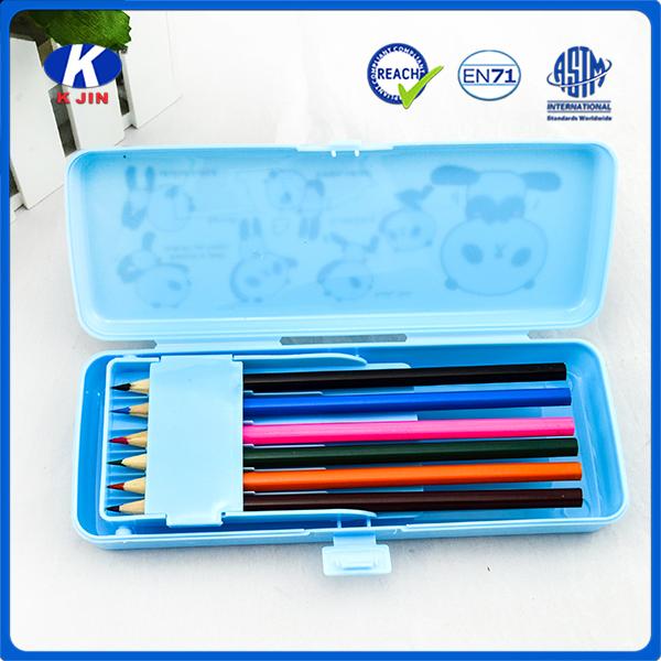 Promosyon neopren kalem kutusu çantası tutucu kılıfı/sabit zip neopren kalem kalem kutusu/çanta 4C baskı