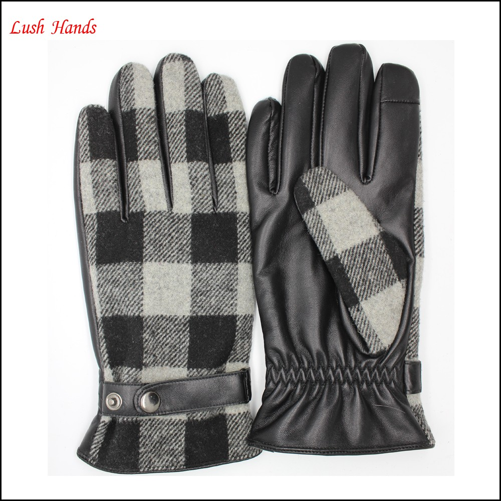 In 2016 one of the most popular Scottish fabric back and leather plam leather gloves