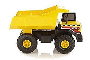 Sturdy Steel Construction Tonka Classic Mighty Dump Truck, Built For Hauling, Yellow, Plastic