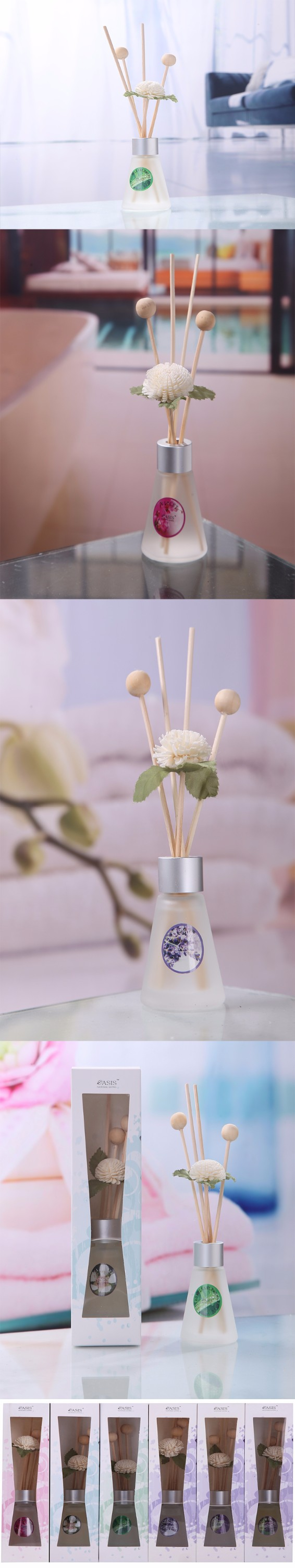 Banquet Decoration Wedding Favor and Gifts for Guest Reed Diffuser Packaging, Oaxiz-S12 Diffuser Stick Reed