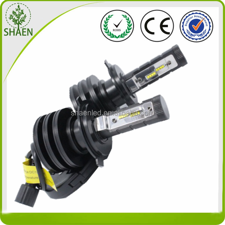 No fan type 4500lm H4 led car headlight kit, h4 led headlight 2016, h4 led headlight philip luxeon mz