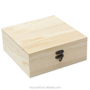 Natural color wooden gift box for craft toys jewelry storage & packaging