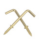 Wholesale Brass Plated Self Tapping L shape decorative screw hooks l shaped hook