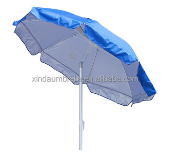 Fancy 180cm Stainless Steel Shaft Fibergl Promotional Patio Beach Umbrella