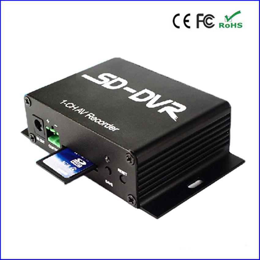 Free shipping! 1 ch mini sd card cctv dvr , av recorder support 32G tf card loop recording