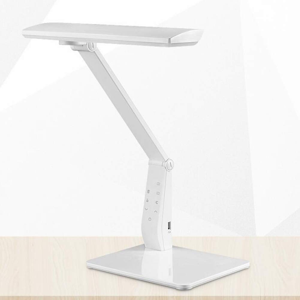 Qzny Table Lamp,Dimmable,Desk Lamp,Eye-Care,Bedside Lamp,LED Lamp,Reading Light,Work,Study,A
