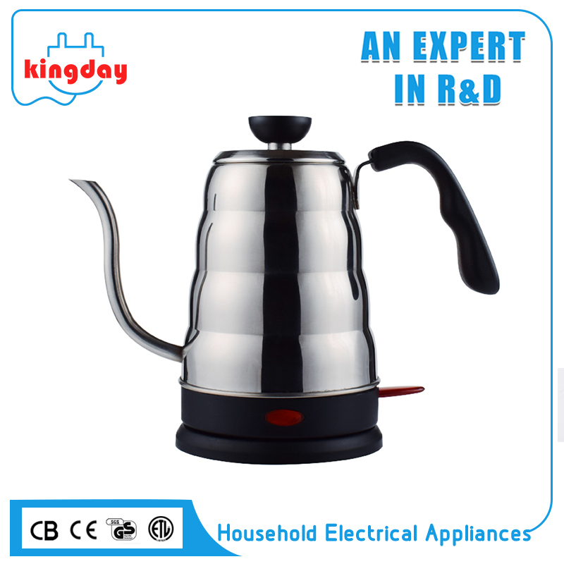 1000W 0.6L 304 stainless steel electric pour over coffee drip gooseneck kettle
