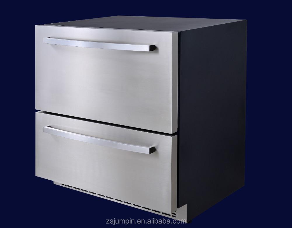 145l edelstahl electronic control doppelt r k hlschrank. Black Bedroom Furniture Sets. Home Design Ideas
