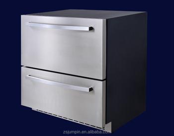 Kühlschrank Schublade : 145l edelstahl electronic control doppeltür kühlschrank schubladen