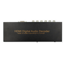HD to HD VGA SPDIF 5.1 Surround Sound Converter 5.1RCA Support AC3 DTS Decoder HD Digital Audio Decoder