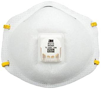 3M 8515 N95 Economical Disposable Particulate Welding Cup Respirator with Cool Flow Exhalation Valve, Standard, ASTM D2859-96 (Case of 80)