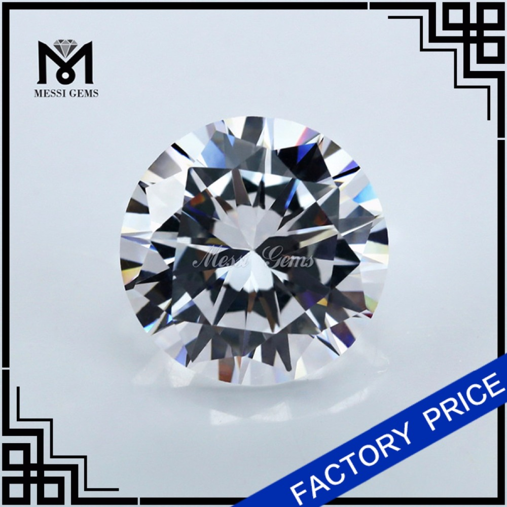 wholesale round shape synthetic cubic zirconia stone price