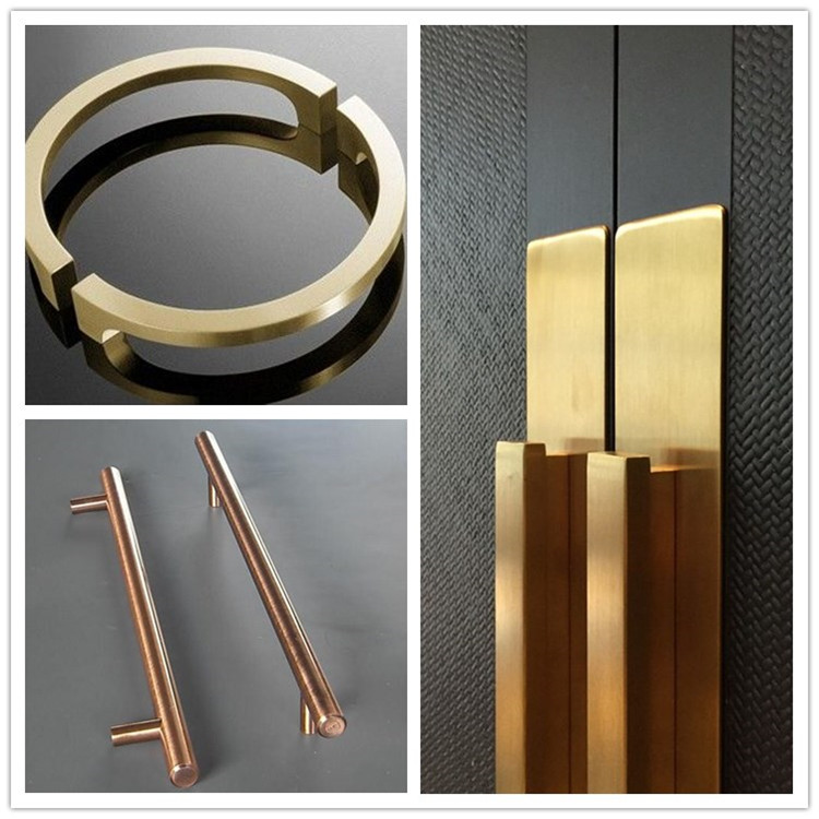 China Manufacturer Luxury Mirror Polished Golden Shinny Stainless Steel Door Handle with Anti-Finger Print