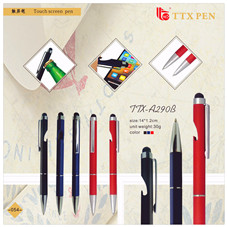 New design stationery Promotional office gifts touch stylus metal ball pen for smart board